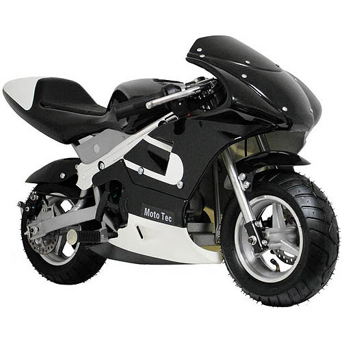 MotoTec Gas Pocket Bike, Black