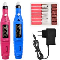 Professional Nail Power Drill Electric Manicure Machine Kit Tools Gel Polish Remover Rose Pink Blue Rose Pink US Plug