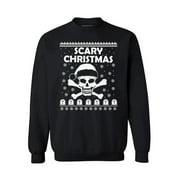Awkward Styles Scary Christmas Sweater Santa Skull Christmas Sweatshirt Scary Christmas Skull Christmas Sweater for Men and for Women Skull Christmas Holiday Sweatshirt
