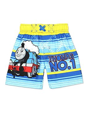 Thomas the Train and Friends Boys Swim Trunks Swimwear (2T, Blue)
