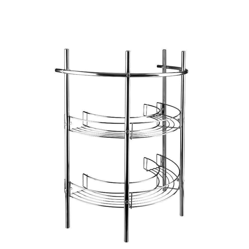 Mild Steel Pedestal Storage Unit with Shelves and Towel Rail, Make ...