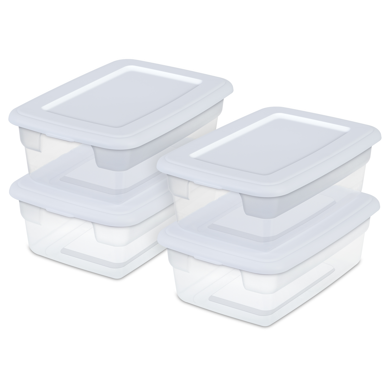 Sterilite - 12 Qt Storage Bx, White, Case of 4