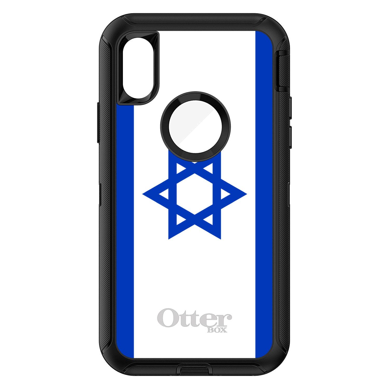 DistinctInk Custom Black OtterBox Defender Series Case for Apple iPhone X 10... by DistinctInk™