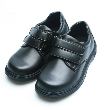 Black Dress Uniform Shoes (Happystep Toddler Little Boy School Uniform Dress Black Shoes, 1 Pair)
