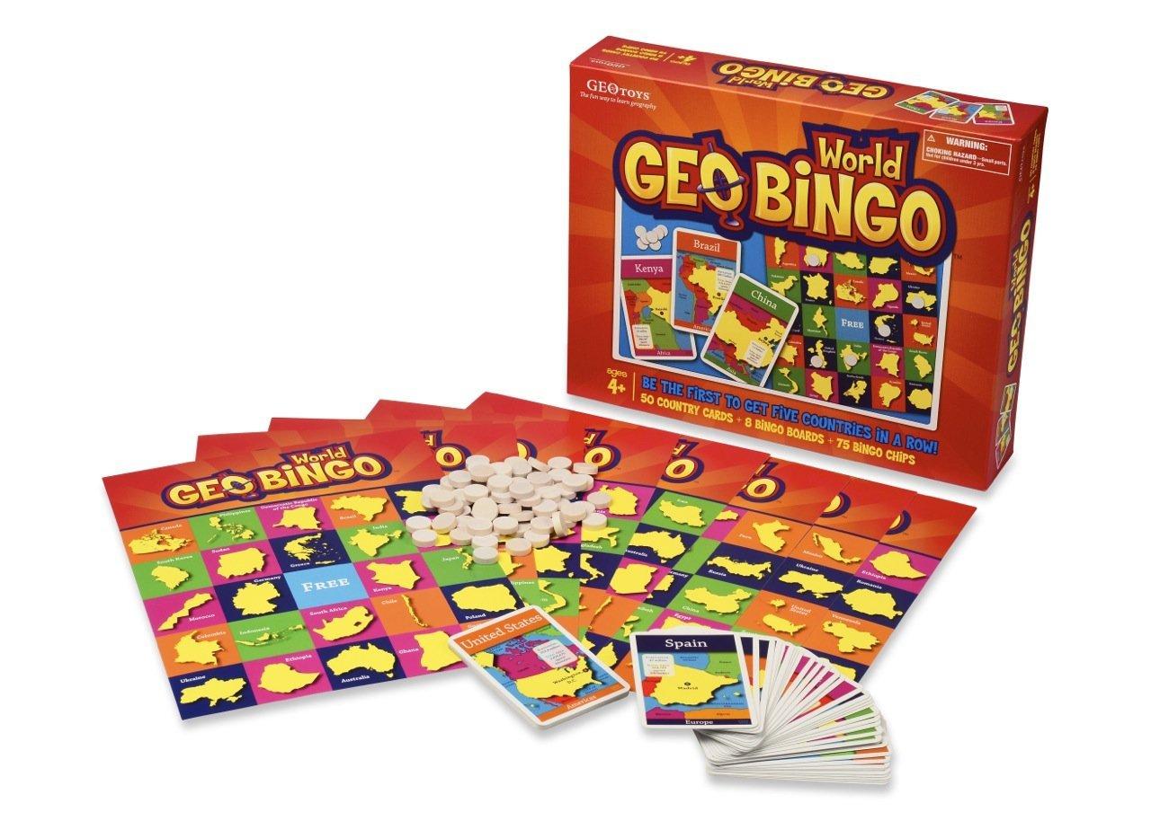 GeoBingo World Educational Geography Board Game, KIDS BINGO GAME � Meet the bingo game with a geographic twist... by