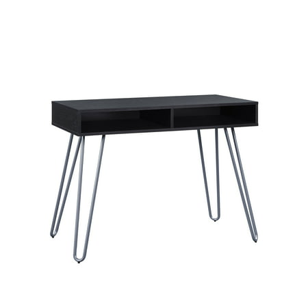 Southern Enterprises Black Desk (Mainstays Hairpin Writing Desk, Multiple Finishes)