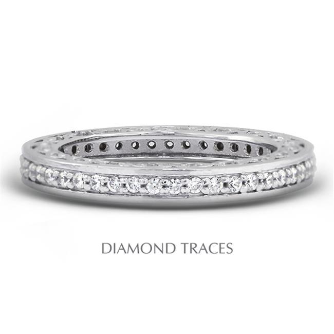 Diamond Traces UD-EWB452-8870 14K White Gold Pave Setting...