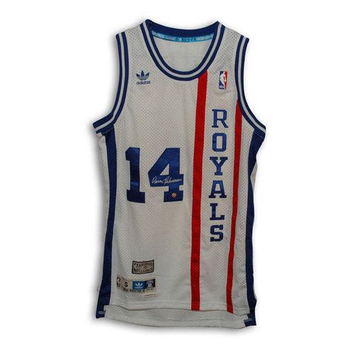 NBA - Oscar Robertson Cincinnati Royals Autographed Authentic Adidas Throwback Jersey