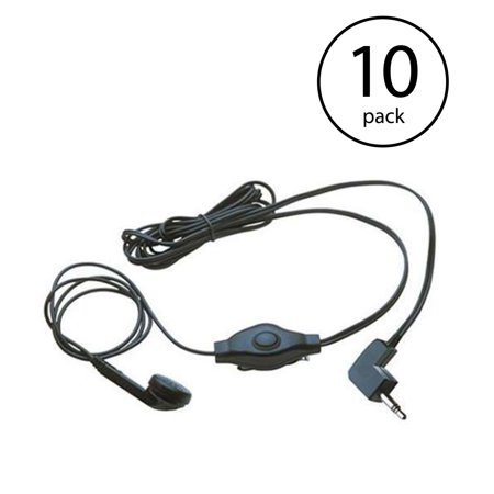 Cobra Earbud And Microphone MicroTalk Walkie Talkie Headset | GA-EBM2 (10 Pack)