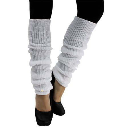 Long Thick Knit Dance Leg - White Leg Warmers