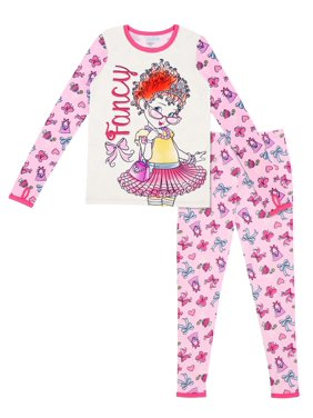 Fancy Nancy Poly Spandex Top and Pant Thermal Underwear Set, (Little Girls & Big Girls)