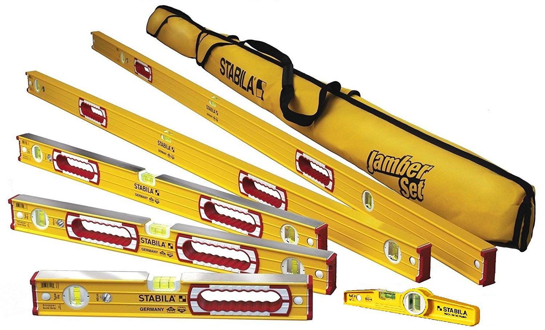 "Stabila 78496 Level Set Kit 78"" 48"" 32"" 24"" 16"" Torpedo & Case by Stabila"