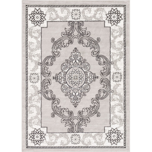 Well Woven Ash Yonderhill Modern Grey Area Rug