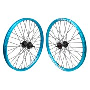 Wheel Masters 20 Inch Aly BMX 20in SET 23 B/O 3/8 Blu NMSW-F/Blk MSW-R Alienation Mischief