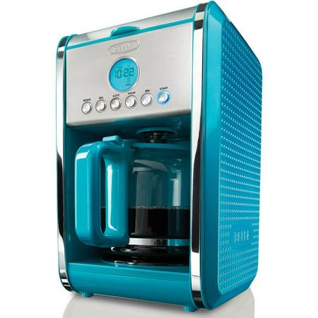 Bella One Cup Coffee Maker Turquoise : Dots Prog 12c Coffee Makr Teal - Walmart.com