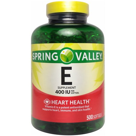 Spring Valley Vitamin E Softgels  400 Iu  500 Ct