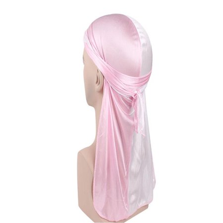 Tie Mens Silk Scarf - OkrayDirect Two-color Artificial Silk Long Tail Scarf Silk Satin Pirate Hat Long Tail Scarf Hat
