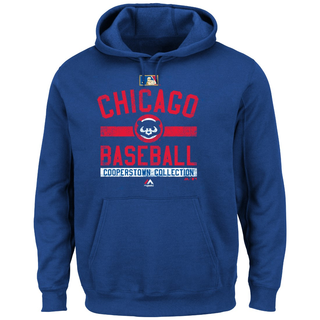"Chicago Cubs Majestic MLB ""Team Property"" Cooperstown Hooded Sweatshirt"