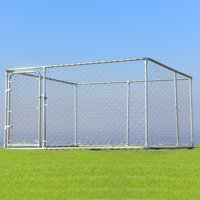 "Gymax Galvanized Steel Frame Backyard Dog Kennel Cage, X-Large, 90""L"