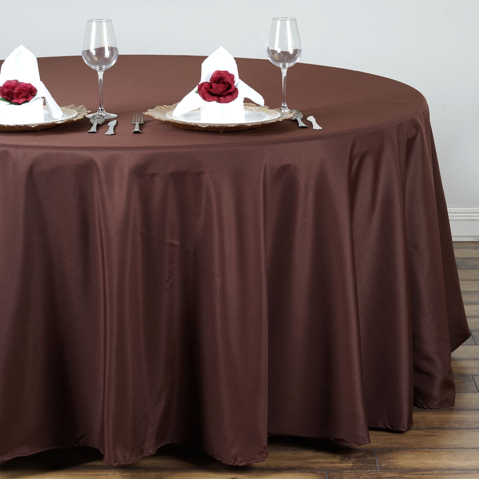 "BalsaCircle 132"" Round Polyester Tablecloths for Party Wedding Reception Catering... by BalsaCircle"