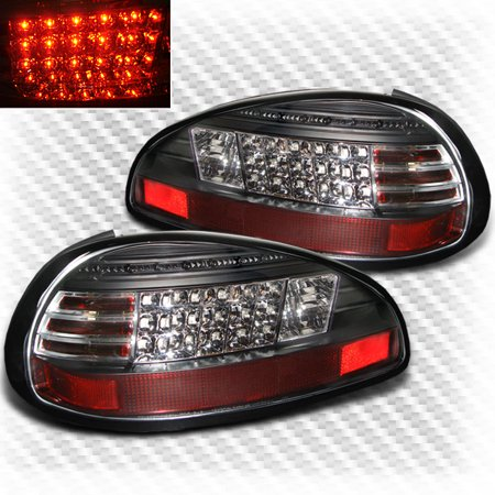 1997 2003 Pontiac Grand Prix Led Black Tail Lights Rear Brake Lamp Pair Left Right 1998 1999 2000 2001 2002