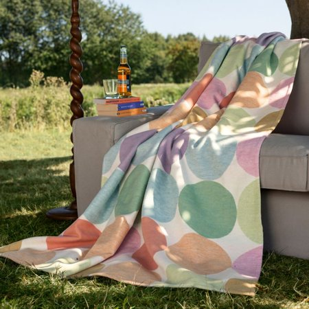 IBENA Cotton Pure Candy Colored Dots Oversized Throw