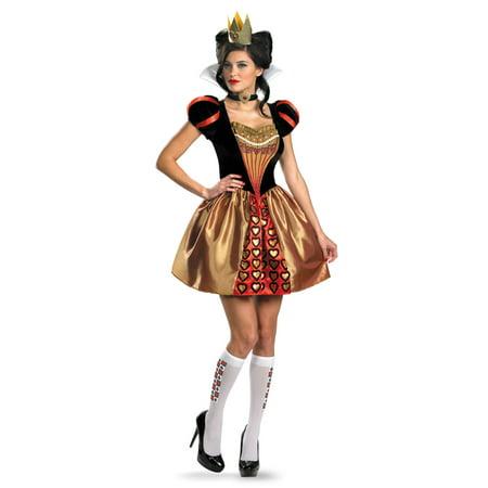 Sassy Red Queen 4-6 Adult Womens Costume - Walmart.com