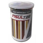 INSULTAB 30-PVC-175BK Heat Shrink Tubing Kit,Black,175 Pc
