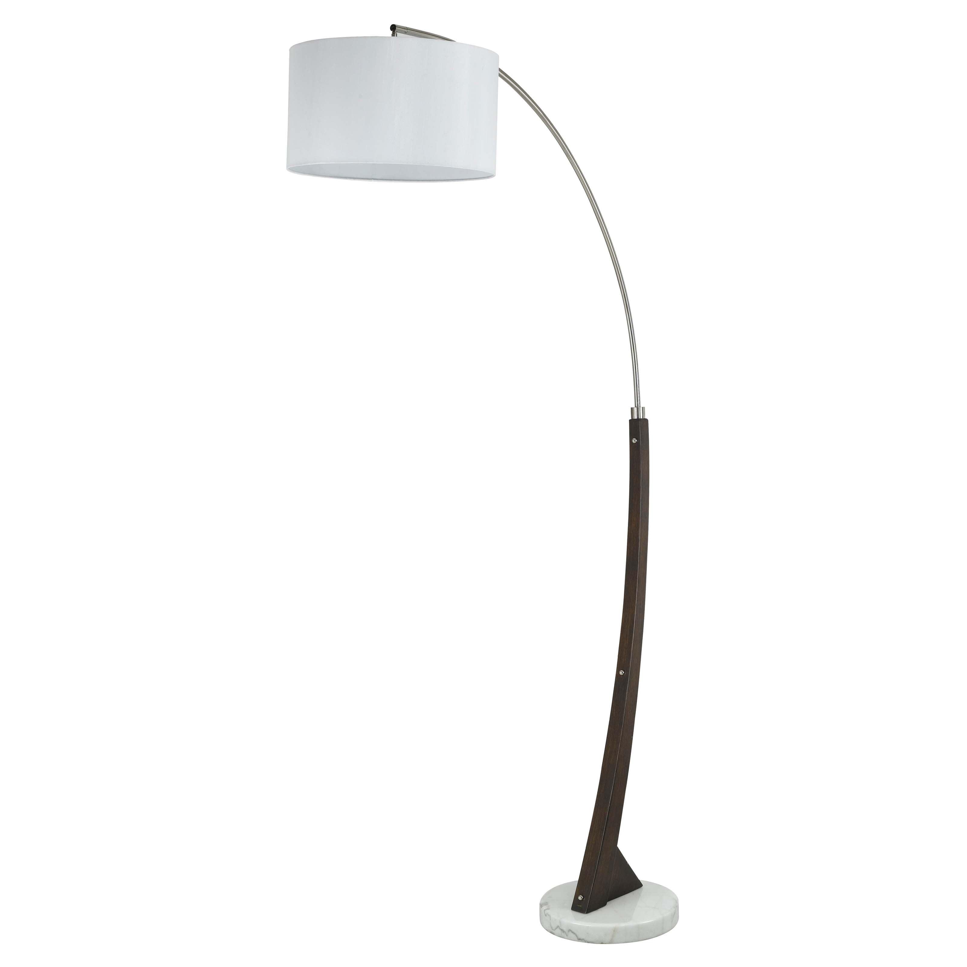 Cal Lighting BO-2033 Arc Floor Lamp with Hardback Fabric Shade by CAL Lighting