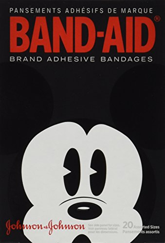 2 Pack - BAND-AID Bandages Mickey Mouse Assorted Sizes 20 Each