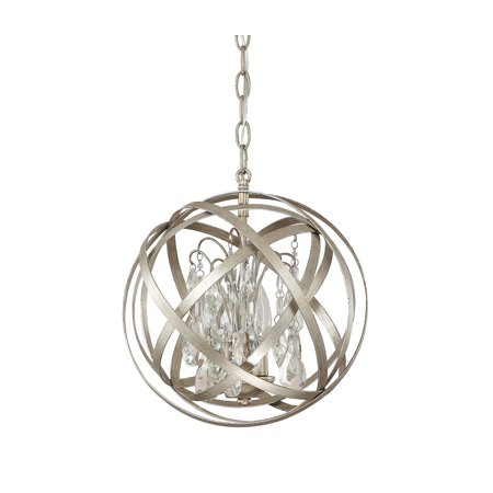 Capital Lighting Axis Winter Gold 3 Light Pendant With Crystals Included