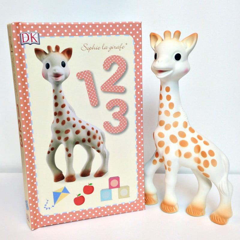 Vulli Set Sophie la girafe & 1,2,3 book