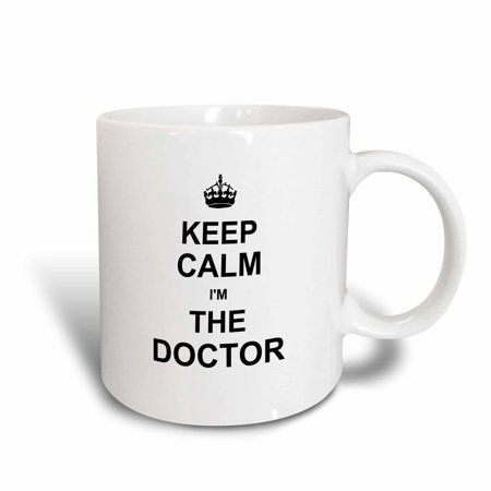 The Doctor And Rose Halloween Costume (3dRose Keep Calm I am the Doctor - Dr and proud - fun humorous funny humor im, Ceramic Mug,)