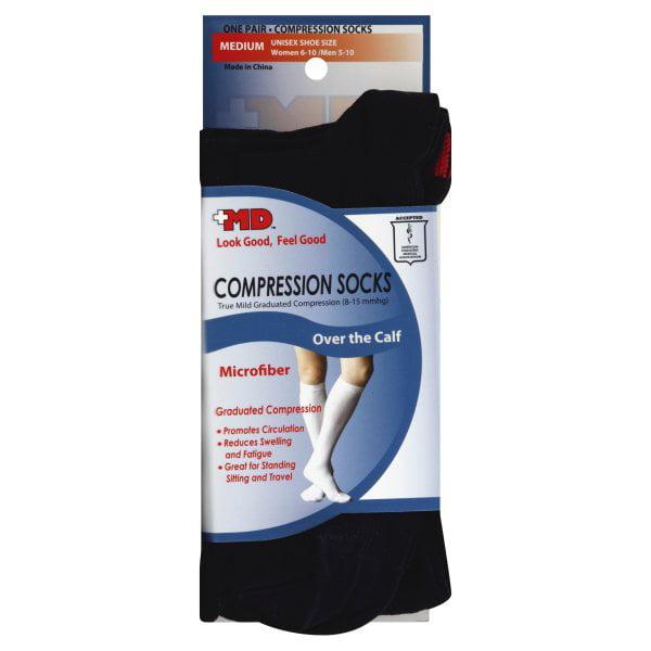 +MD Microfiber Compression Socks, 1 pair