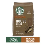 Starbucks Medium Roast Ground Coffee  House Blend  100% Arabica  1 bag (12 oz.)