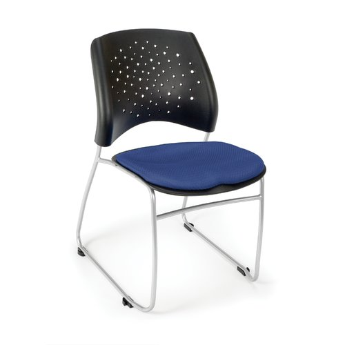 OFM Stars Series Model 325 Fabric Stack Chair, Royal Blue