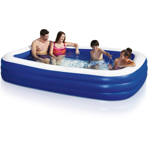 Rectangle Inflatable Pool play day deluxe family swimming pool - walmart