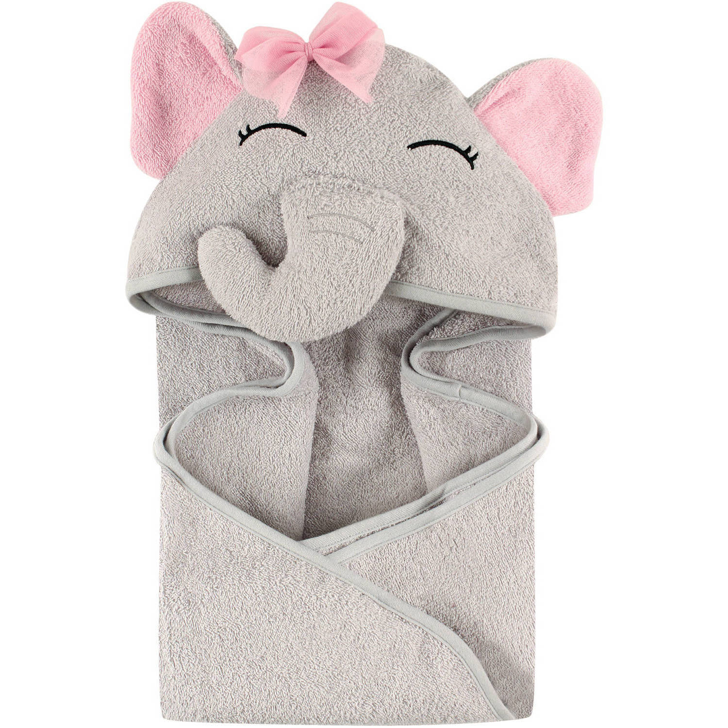 Hudson Baby Animal Hooded Towel, Pretty Elephant