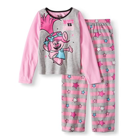 Trolls Girls' 2-Piece Pajama Sleep Set