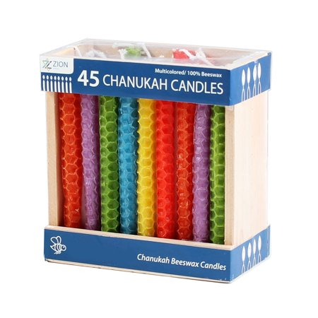 Colored Beeswax Honeycomb Chanukah Candles