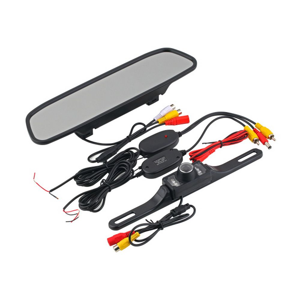 4.3inch Car TFT LCD Monitor Mirror+Wireless Reverse Car Rear View Camera Kit