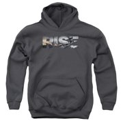 The Dark Knight Rises Title Big Boys Pullover Hoodie