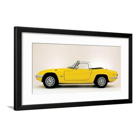 - 1971 Lotus Elan S4 SE Framed Print Wall Art