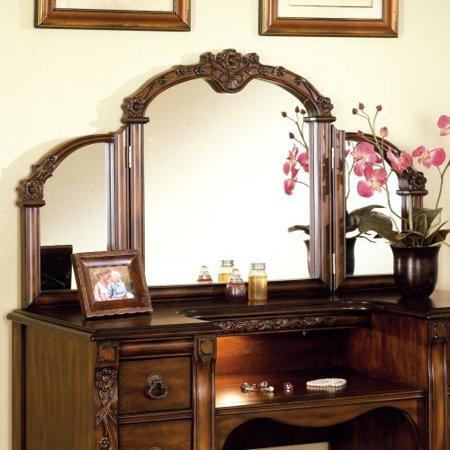 Dodson Walnut Bedroom Vanity Mirror
