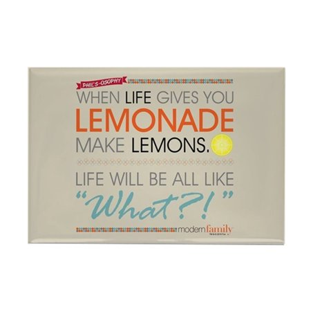 Rectangle Lemon (CafePress - Modern Family Phil's-Osophy Lemon - Rectangle Magnet, 2