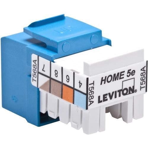 Leviton HAI 5EHOM-RL5 Home 5E Jack Blue
