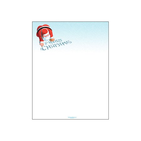 Merry Christmas Letterhead - 80 Sheet Per Pack - Santa Writes In Snow Holiday Theme Stationery](Christmas Party Theme Ideas)