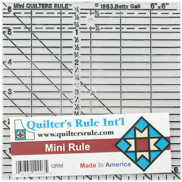 "Quilter's Rule Quilter's Mini Rule, 6"" x 6"""