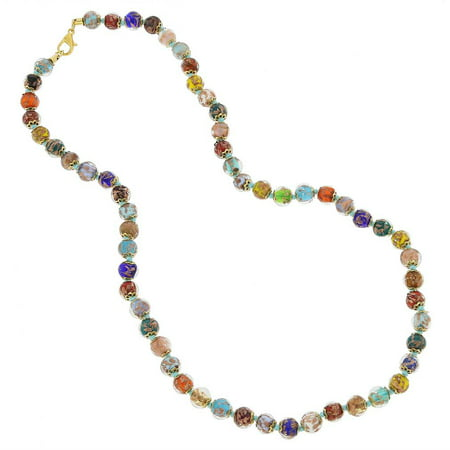 GlassOfVenice Murano Glass Sommerso Long Necklace - (Murano Style Glass Necklace)