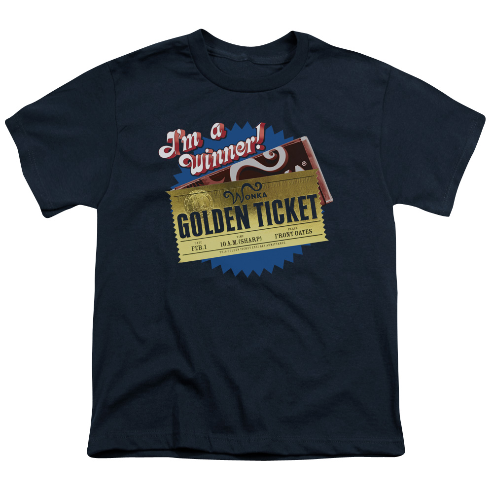 Chocolate Factory/Golden Ticket   S/S Youth 18/1   Navy     Wbm123